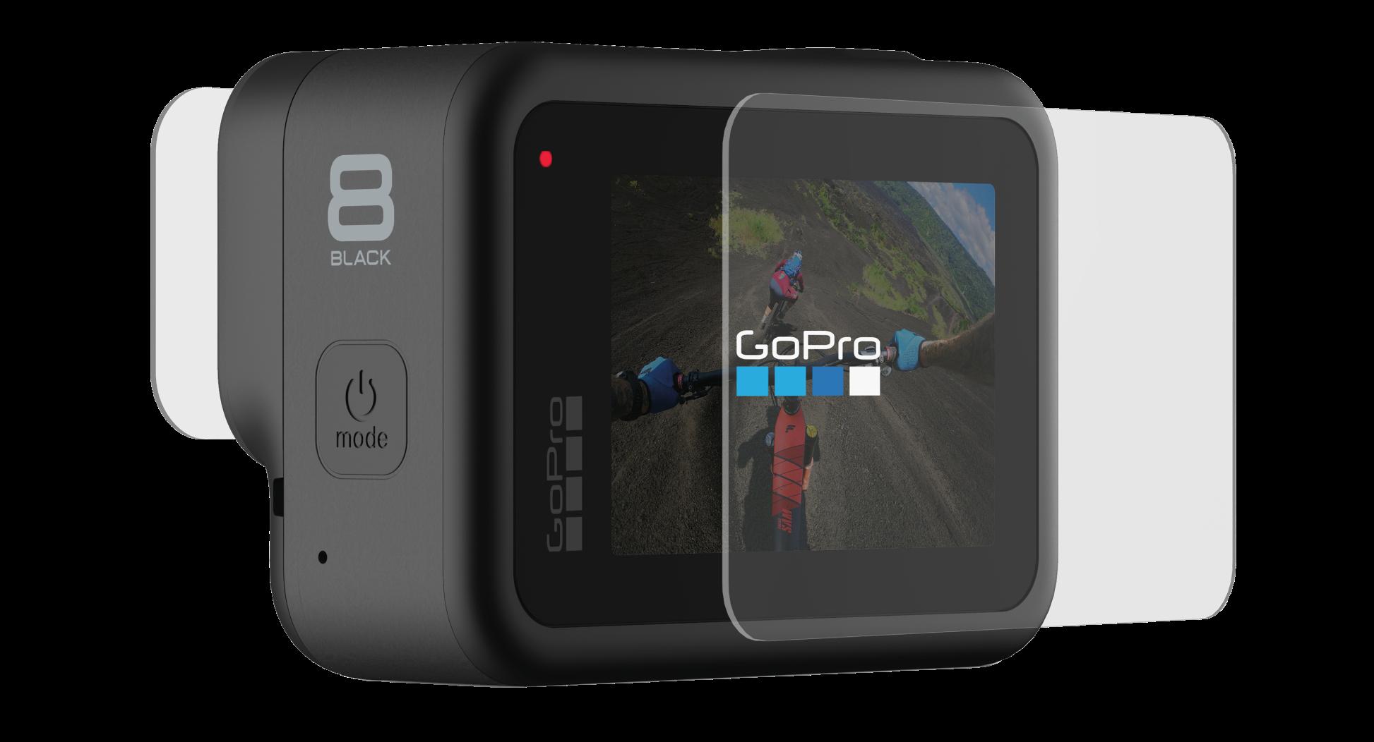 Защитные пленки из закаленного стекла для объектива+ экрана для HERO8 Black-back-image