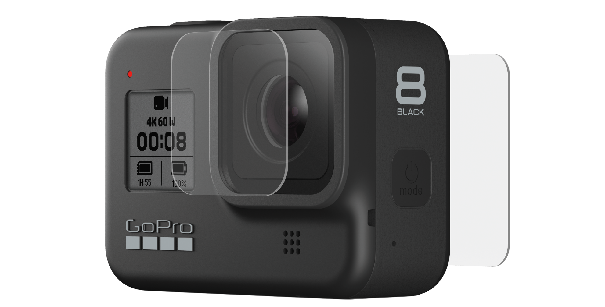 HERO8 Black Tempered Glass Lens + Screen Protectors-front-image