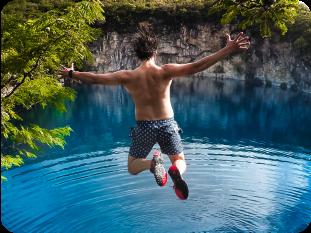 HERO8 Black Cliff Jumping
