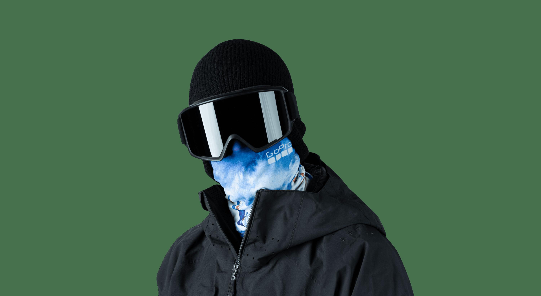Alpenglow Neck Gaiter-on-man-image